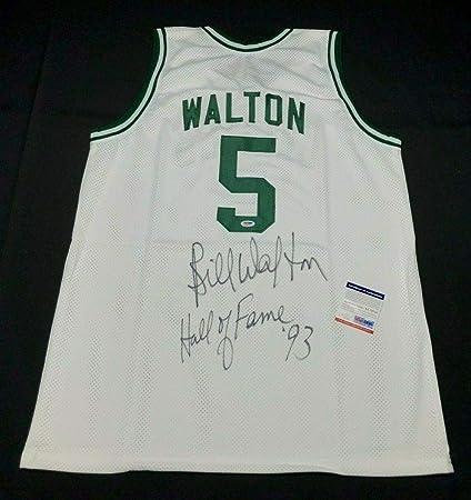 hot sale online bcd7b d62f8 Bill Walton Signed Boston Celtics Basketball Jersey