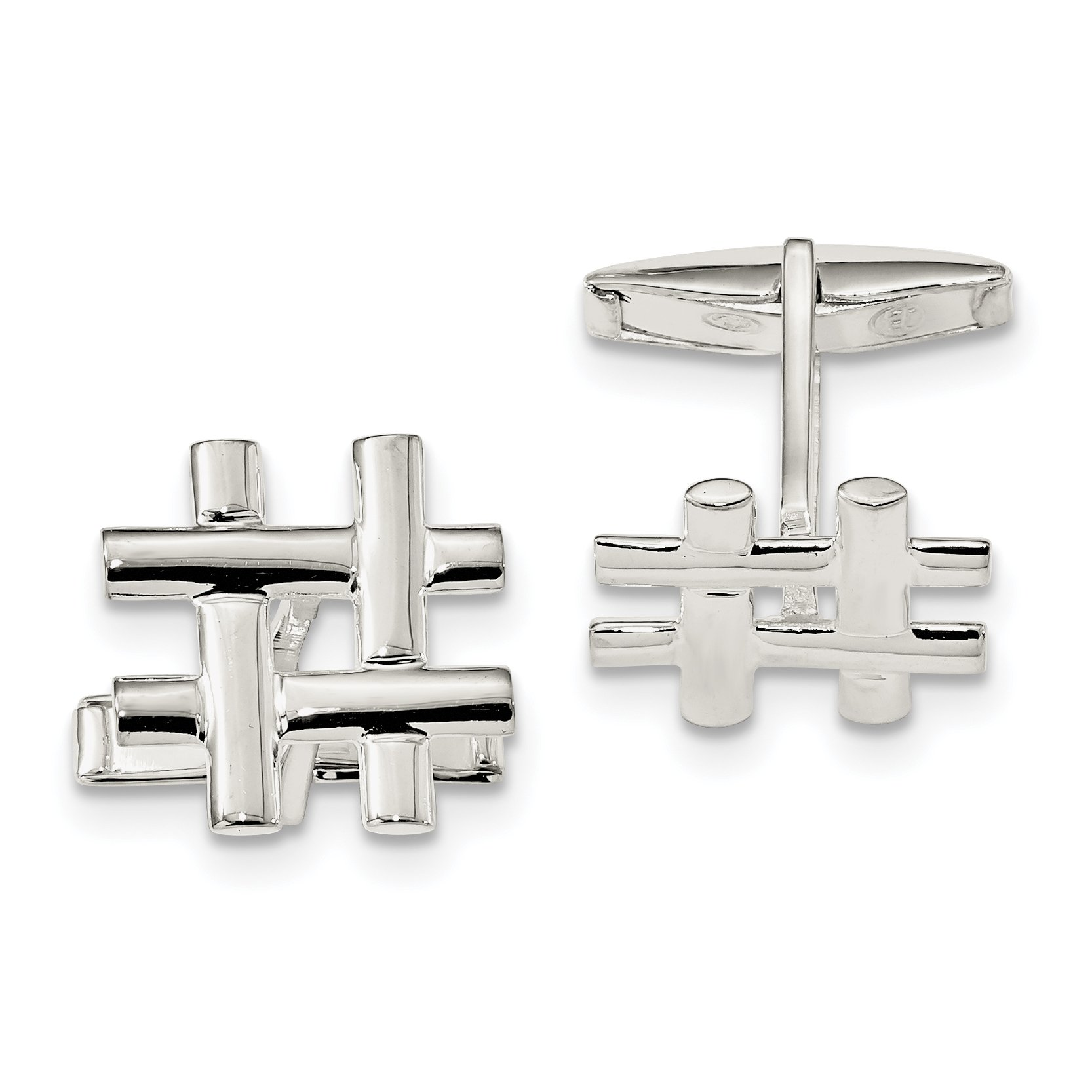 ICE CARATS 925 Sterling Silver Cuff Links Mens Cufflinks Link Fine Jewelry Dad Mens Gift Set