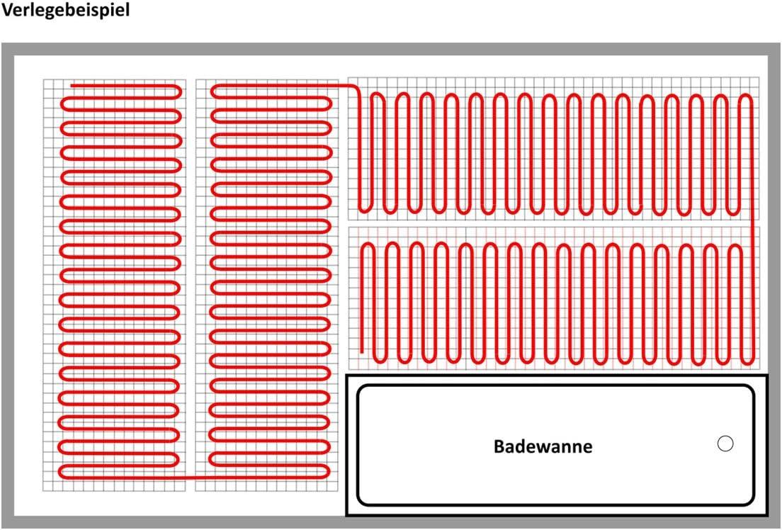 Calorique Chauffage au sol 50cm 150W//m/² Set 8m/² Solution de chauffage efficace et d/économie d/énergie de la maison