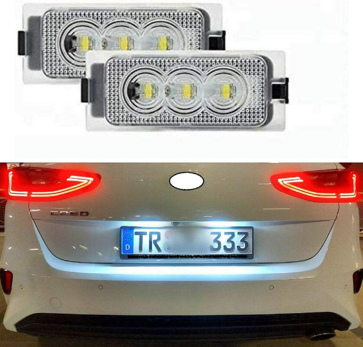 2 X Top Module Smd Led Kennzeichenbeleuchtung Nummernschildbeleuchtung 307ren Auto