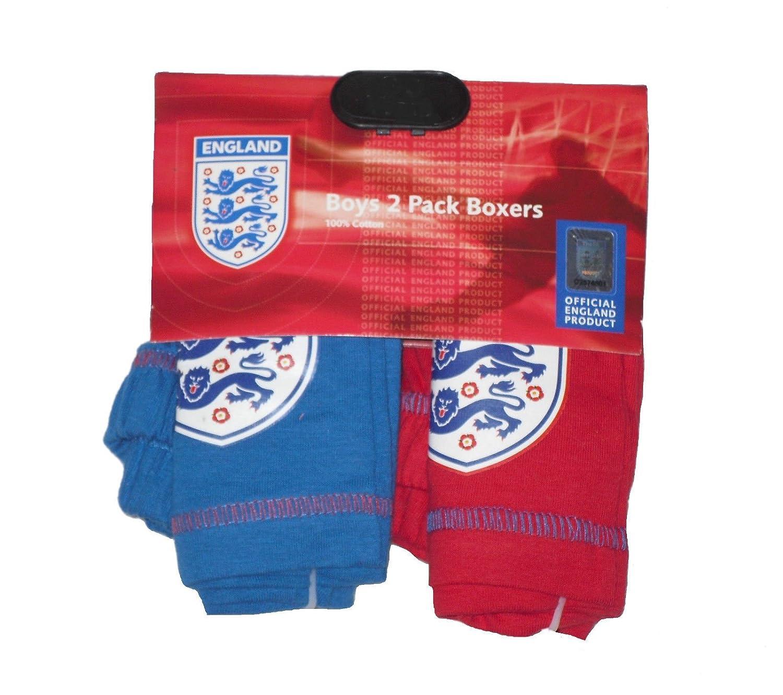BOYS 2 PACK BOXER SHORTS UNDERWEAR ENGLAND