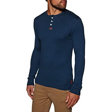 47c13d34 Superdry - Heritage Grandad LS Top, Ink Grit: Amazon.co.uk: Clothing