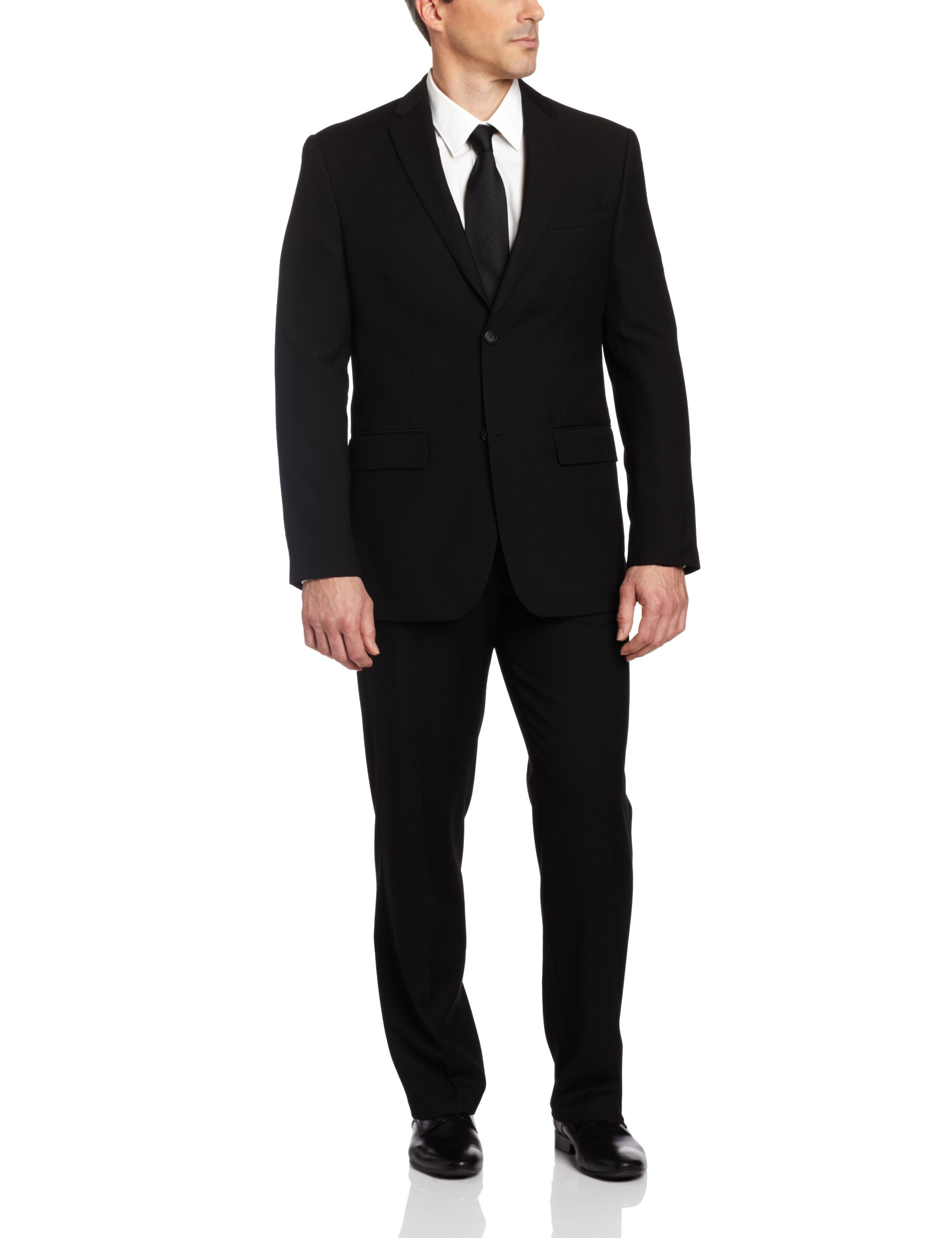 Perry Ellis Men's Solid Jacket,Black,38 Regular