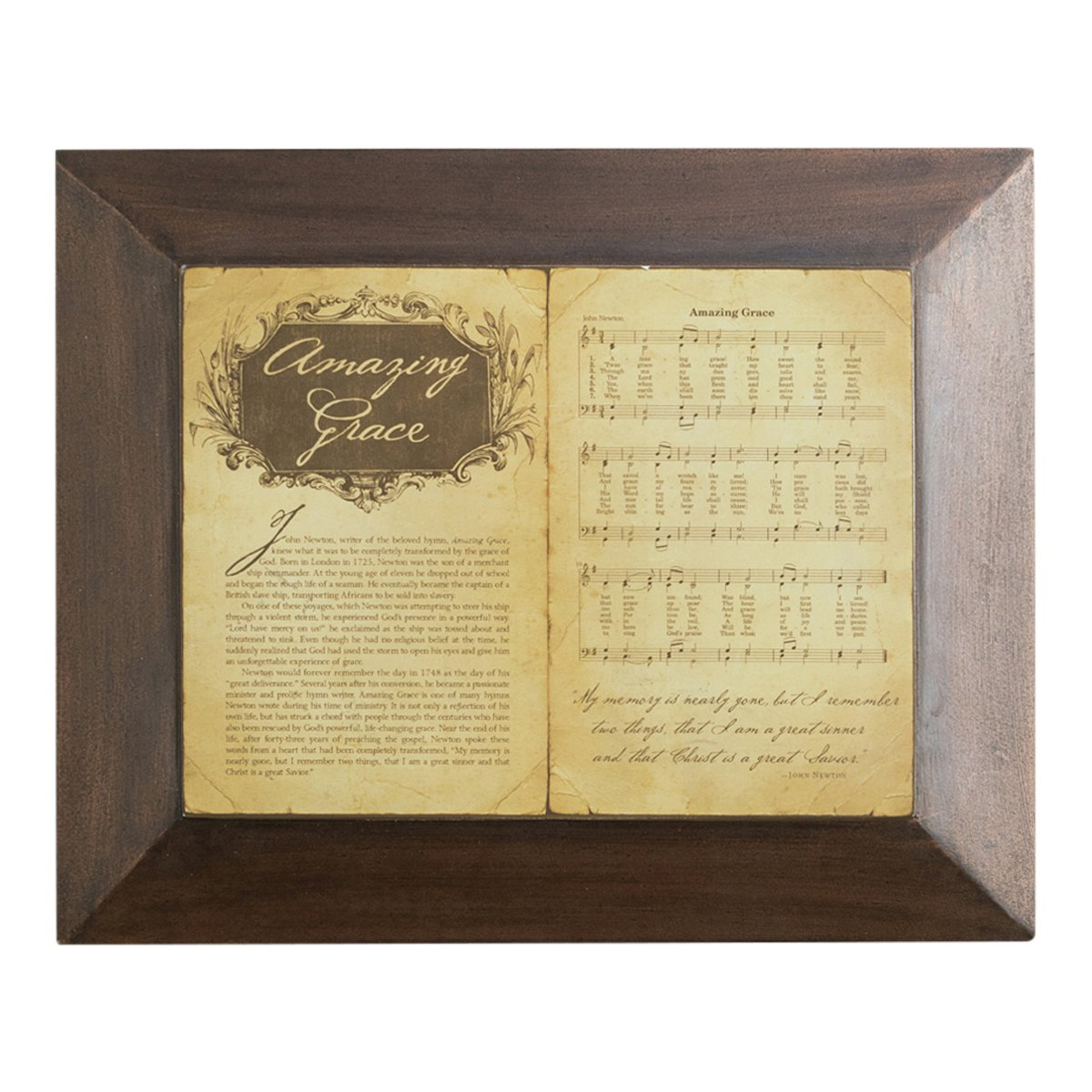 Amazon.com: Wall Plaque - Amazing Grace - Hymn: Office Products