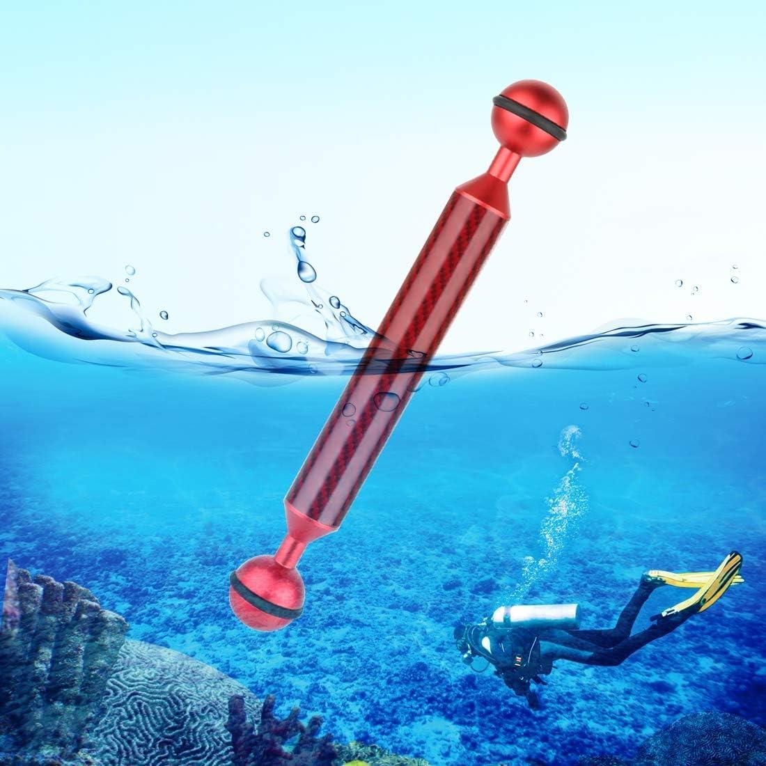 CAOMING 7 inch 17.7cm Length 20.8mm Diameter Dual Balls Carbon Fiber Floating Arm Ball Diameter Color : Blue 25mm Durable