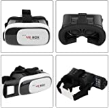 Jinie VR Box 2nd Generation Enhanced Version Virtual Augmented Reality Cardboard 3D Colour Black and White Pack of - 1 Pieces