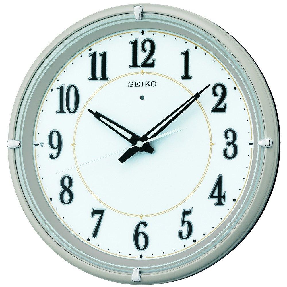 セイコー クロック 掛け時計 自動点灯 電波 アナログ 夜でも見える ファインライト NEO ネオ 薄金色 メタリック KX393G SEIKO B00L8XBY2Q 薄金色メタリック 薄金色メタリック