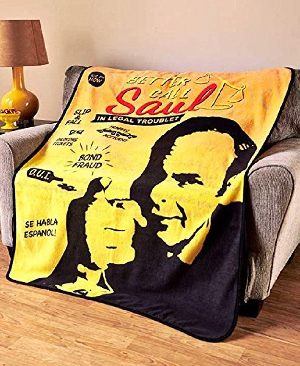 JUST FUNKY Better Call Saul Breaking Bad Funny Lawyer Fleece Throw Blanket/Tapestries Decorative Wall Hanging - Funny Gift, Sofa/Bed Kids Blanket