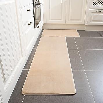 Amazon Com Kitchen Rug Set Leevan Memory Foam Kitchen Comfort Mat