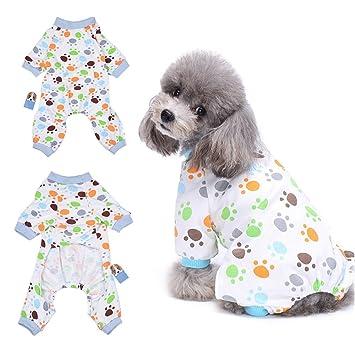 HongyH - Pijama para perro, diseño de cachorro, 100% algodón, para perros