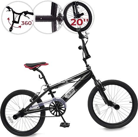 Jago Bicicleta BMX - BlackPhantom con Ruedas de 20 Pulgadas ...