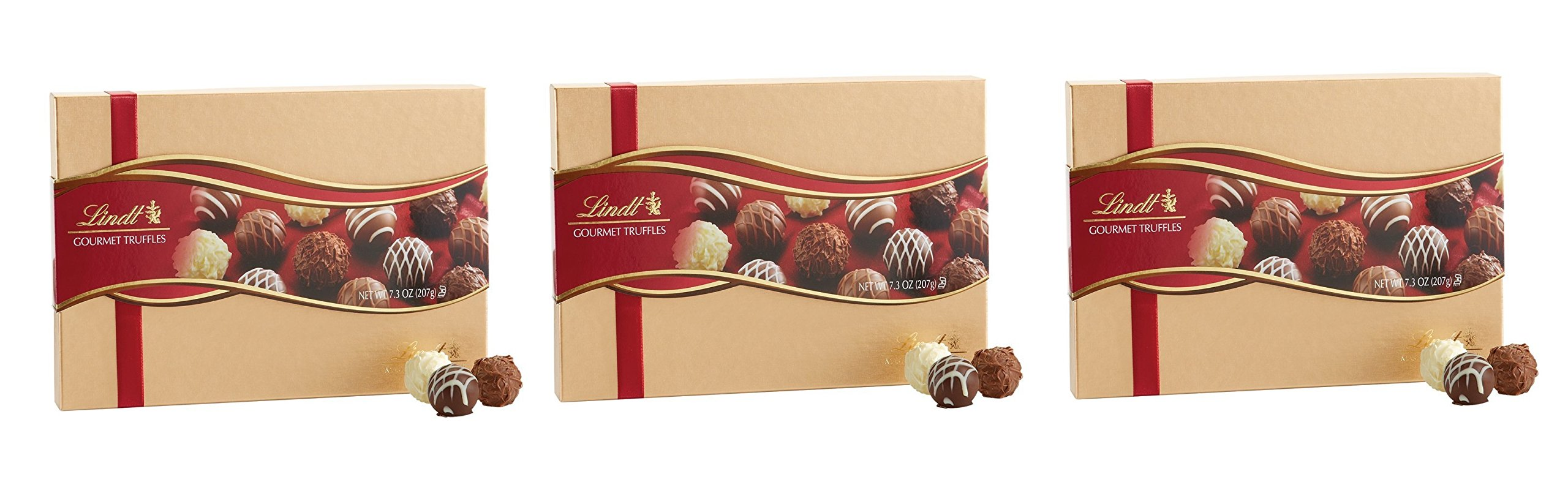 Lindt Lindor Assorted Chocolate Gourmet Truffles, 7.3 oz (Pack of 3)