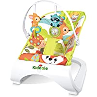 Kiddale Baby's Bouncer with 3 Point Safety Harness and Soothing Sleeping Vibrations Toy Bar (Multicolor)
