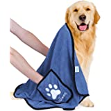 Nobleza Dog Towel, Super Absorbent Large Pet Towel with Hand Pockets, Microfiber Quick Drying Dog Towels for Drying Dogs, Maz