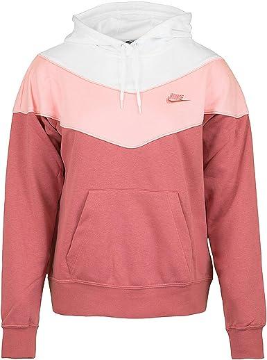 Nike Heritage - Sudadera con capucha para mujer rojo/madera. XL ...
