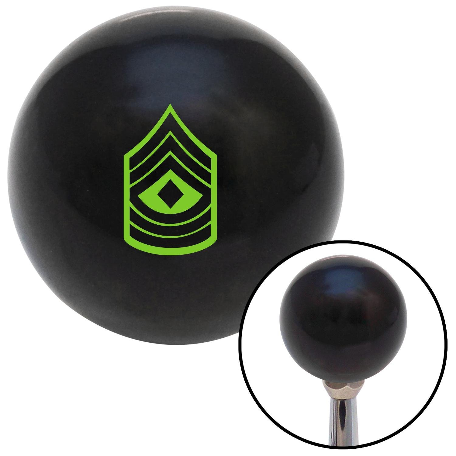 Green 08 First Sergeant American Shifter 107184 Black Shift Knob with M16 x 1.5 Insert