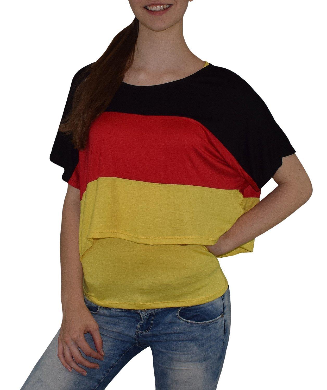 S& LU absolut angesagtes 2-teiliges Damen Deutschland-Fan-Flagtop Größe XS-L XS-L)
