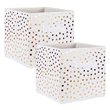 Amazoncom Dii Fabric Storage Bins For Nursery Offices Home - The-beautiful-dot-and-cube-collections
