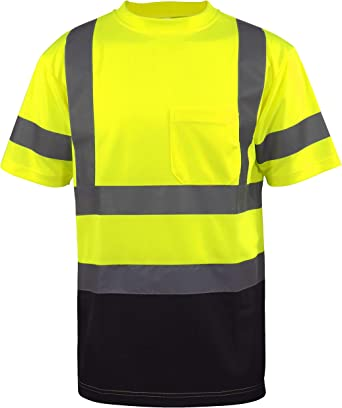 Hi Vis T Shirt ANSI Class 3 Reflective Safety Long Sleeve HIGH VISIBILITY