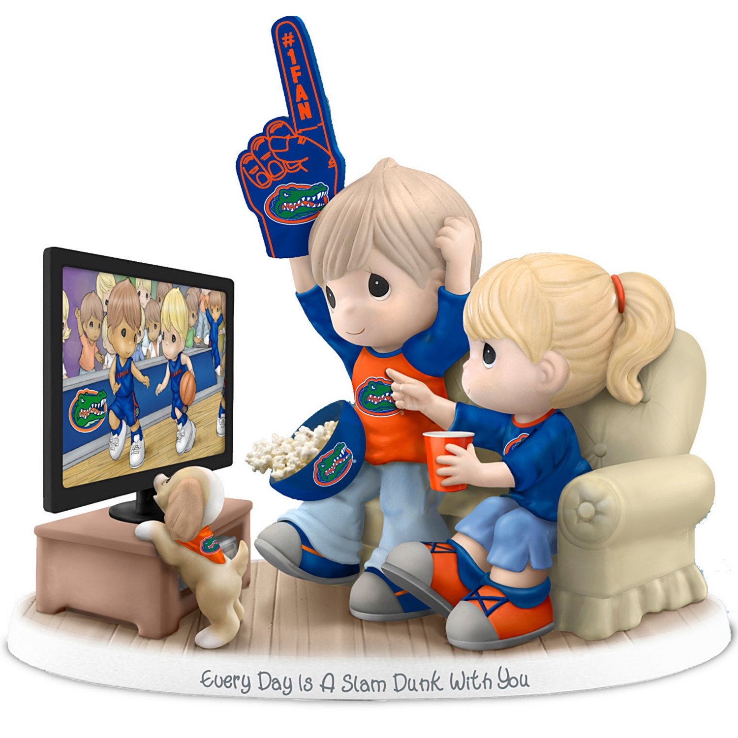 Figurine: Precious Moments Every Day Is A Slam Dunk With You Florida Gators Figurine by The Hamilton Collection