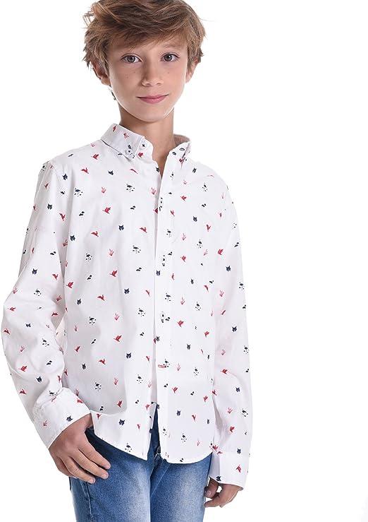 EL FLAMENCO Doñana Camisa, Blanco (Único), (Tamaño del Fabricante:8) para Niños: Amazon.es: Ropa y accesorios