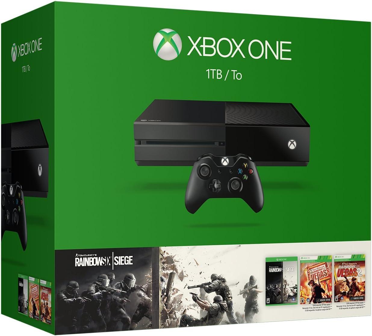 Amazon com: Xbox One 1TB Console - Tom Clancy's Rainbow Six Siege