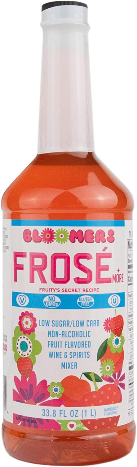 Bloomers Frosé & More Low Cal/Low Carb Drink Mix 1L Bottle - No GMO's, Gluten Free, Vegan, & Kosher