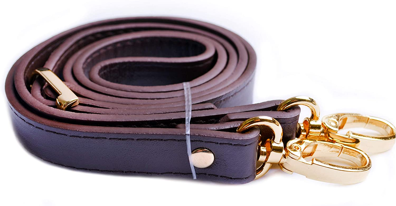 python leather Adjustable bag strap brown purple multicolor