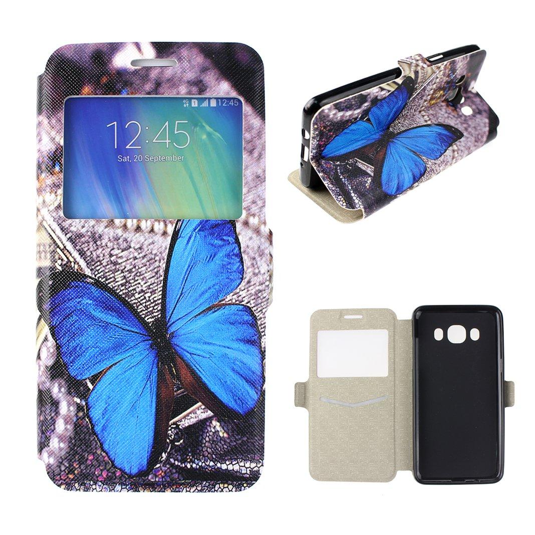 Funda Samsung Galaxy J PU Cuero TPU Inner Carcasa HuaForCity® Funda Con
