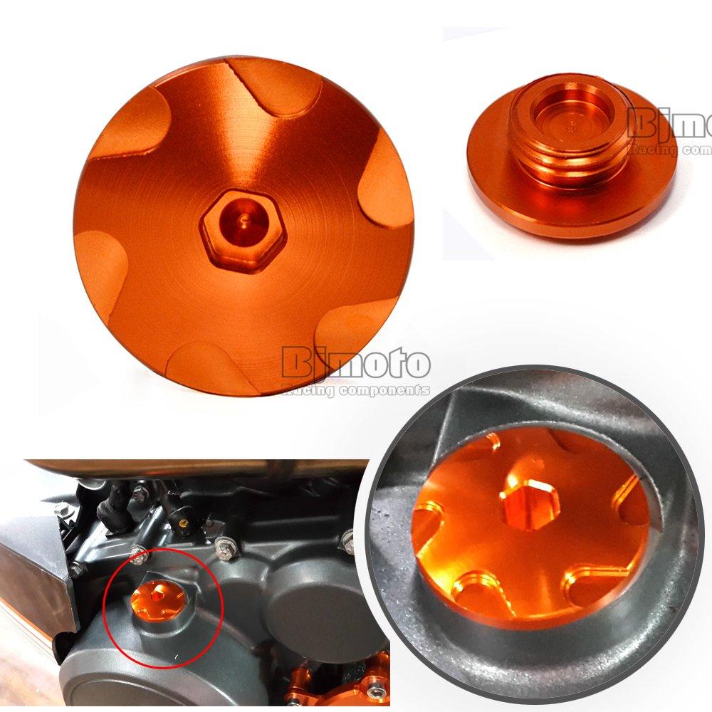 BJ Global 1/Bouchon darbre /à came en aluminium pour KTM Duke 2014 125//200//390 Orange