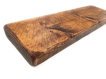 Mensole Legno Massiccio.Pipe Dream Furniture Mensola Sospesa In Legno Massiccio 9 X 2 Mobili Rustici Walnut 60 Cm
