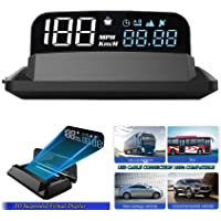 "5"" 4K FHD HUD Display Car GPS Gauge Head up Display Speedometer 3D Reflection Display GPS+BDS Chip 5-24V Satellite…"