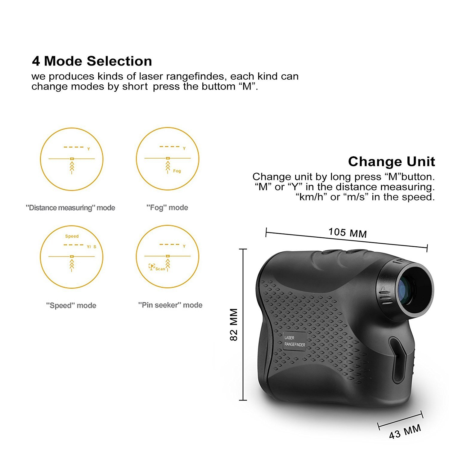 DEKO Golf Laser Rangefinder,Laser Range Finder with Slope, Fog,Scan,Precision Speed Measurement by DEKO (Image #3)