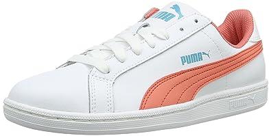 Puma Unisex-Kinder Smash Fun L Low-Top, Weiß White-Porcelain Rose