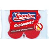 SPONTEX Gratounett Stop Graisse Éponge 2 Pieces - Lot de 3