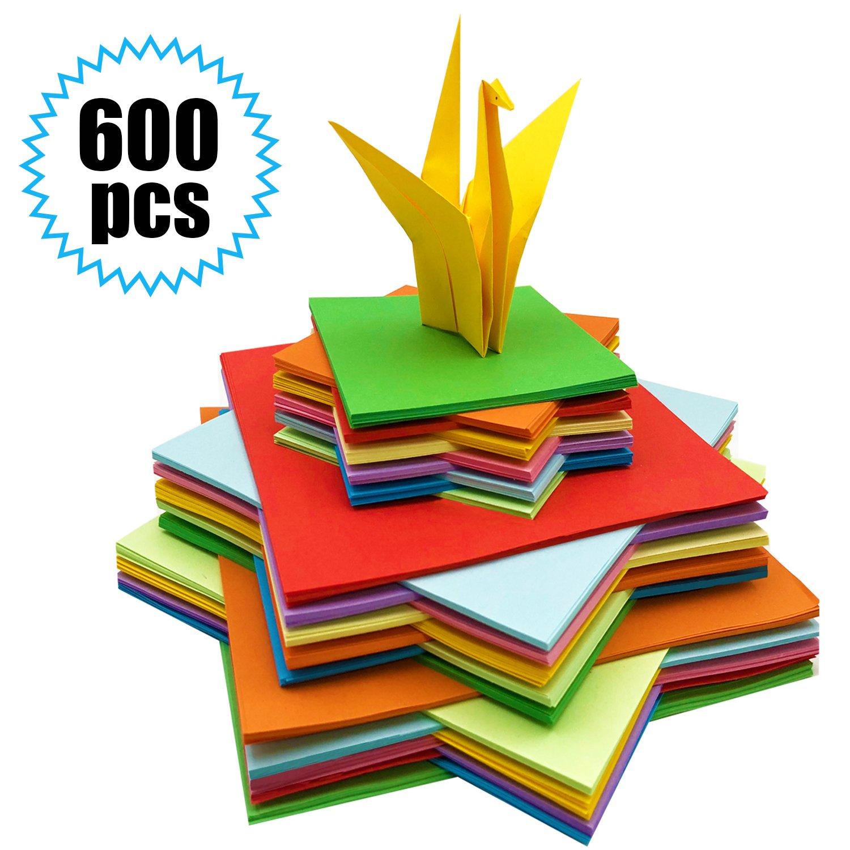 Origami Papier 600 Blatt Origami Papier Origami Faltpapier Buntes
