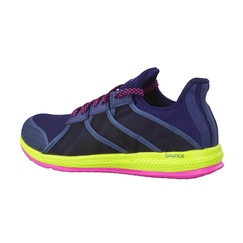 adidas Gymbreaker Bounce W, Chaussures de Running Entrainement Femme, Noir/Bleu/Rose (Bleu Marine Collégial/Bleu Minéral/Rose Shocking), 38 EU