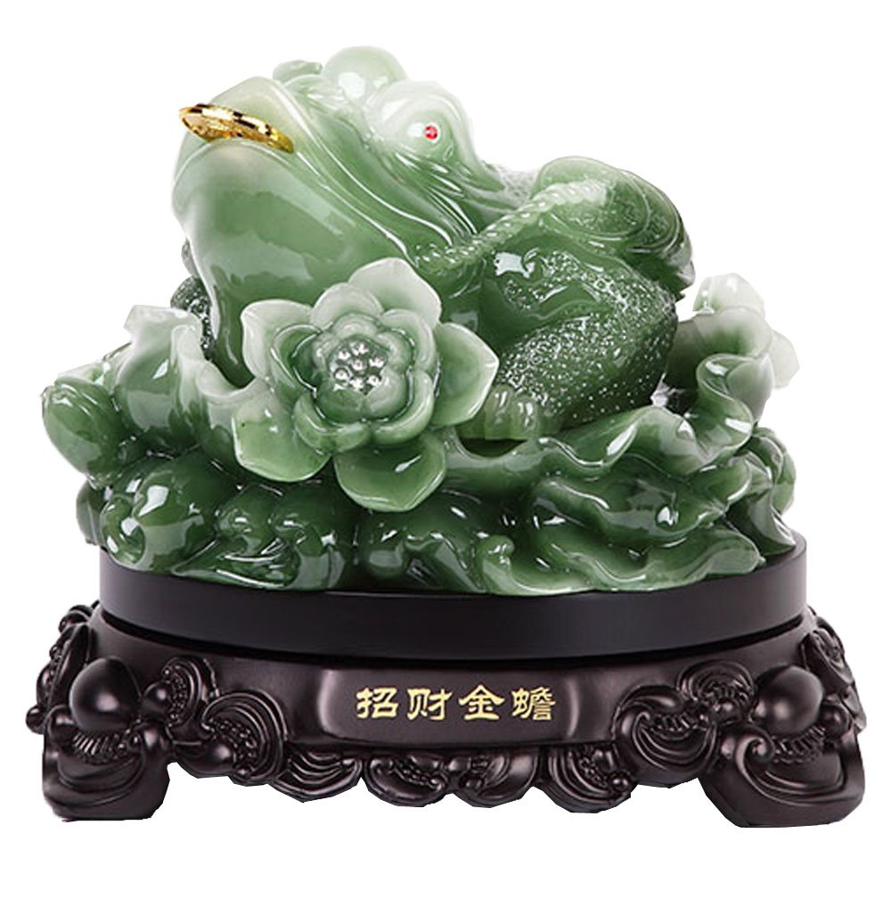 jin Feng Shui Money Lucky Fortune Wealth Chinese Frog Toad Coin Home Office Decoration Tabletop Ornaments Good Lucky Gifts …