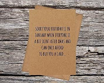 Funny AF tarjetas de enero de cumpleaños lo siento todo el ...