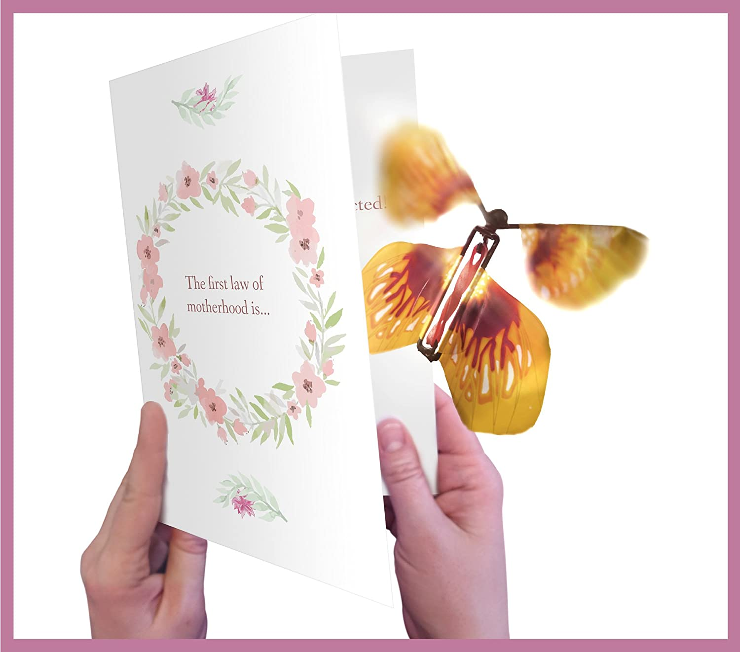 Surprise! Mother's Day Card with Magic Butterfly by wahoocards | Funny unique greeting card for Mother's Day