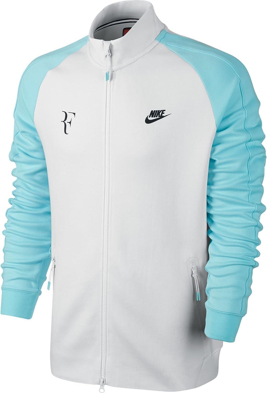 Nike Men S Premier Roger Federer Jacket White Copa Black 644780 103 Size Xl Amazon Ca Sports Outdoors
