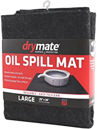 """Drymate OSM2936C Oil Spill Mat, Large, 29"""" x 36"""", Charcoal"""