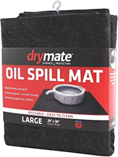 """product image for Drymate Oil Spill Mat (29"""" x 36""""), Premium Absorbent Oil Mat – Reusable/Durable/Waterproof – Oil Pad Contains Liquids, Protects Garage Floor Surface (Made in The USA)"""