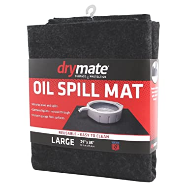 Drymate OSM2936C Large 29  x 36  Spill, Premium Absorbent Mat – Reusable – Oil Pad Contains Liquids, Protects Garage Floor Surface