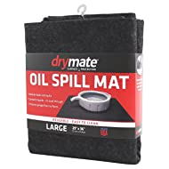 "Drymate OSM2936C Large 29"" x 36"" Spill, Premium Absorbent Mat – Reusable – Oil Pad Contains Liquids, Protects Garage Floor Surface"