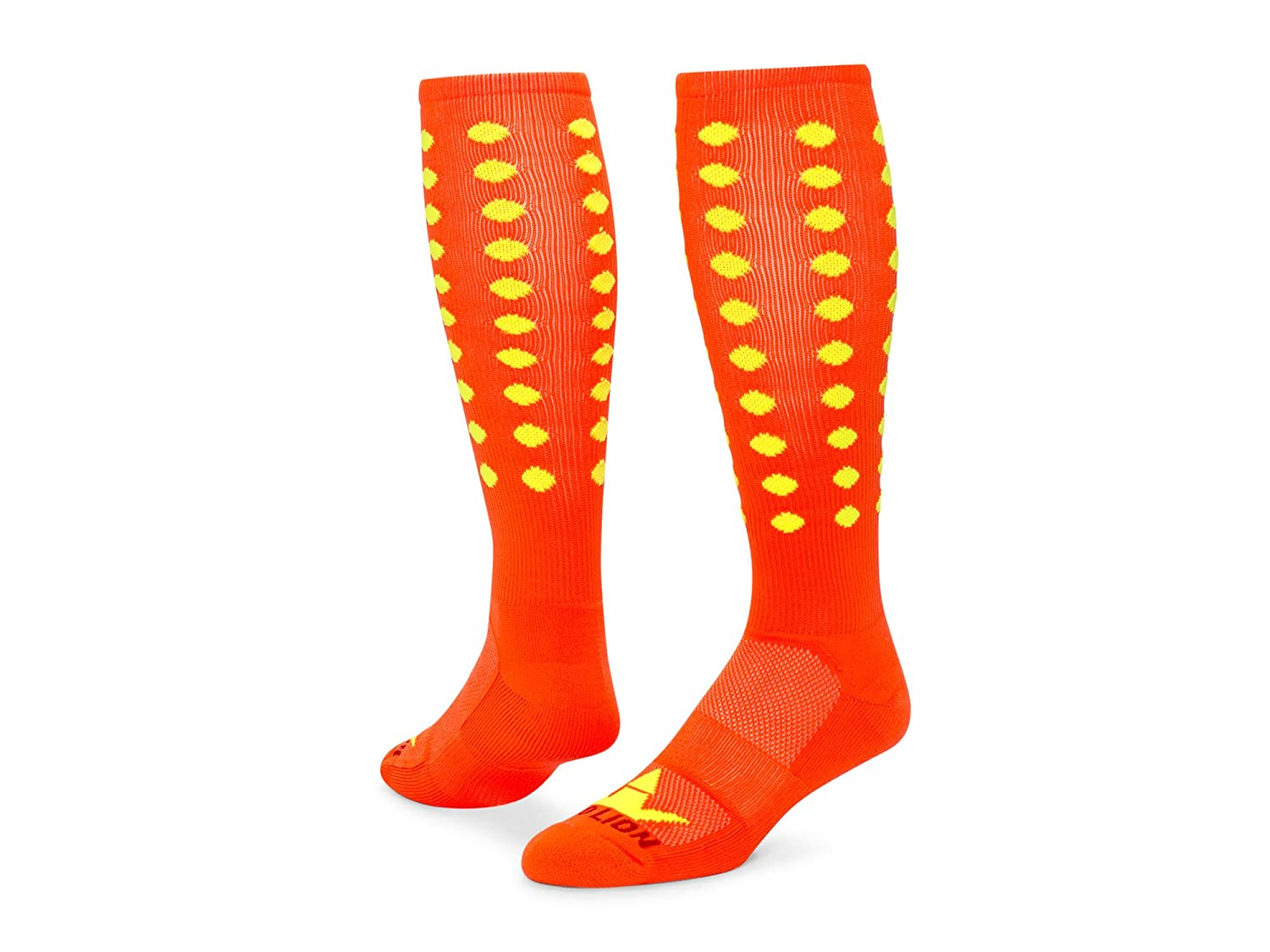 レッドライオンMini Dots Zanyパフォーマンスソックス B00HQGBQKE Medium|Neon Orange / Neon Yel Neon Orange / Neon Yel Medium