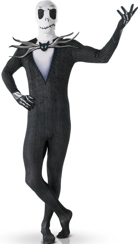 Disfraz segunda piel Jack Skellington?adulto - L - 1.60 m a 1.80 m ...