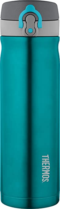 Thermos conexión directa de bebida Termo de acero inoxidable, 470 ml), color azul