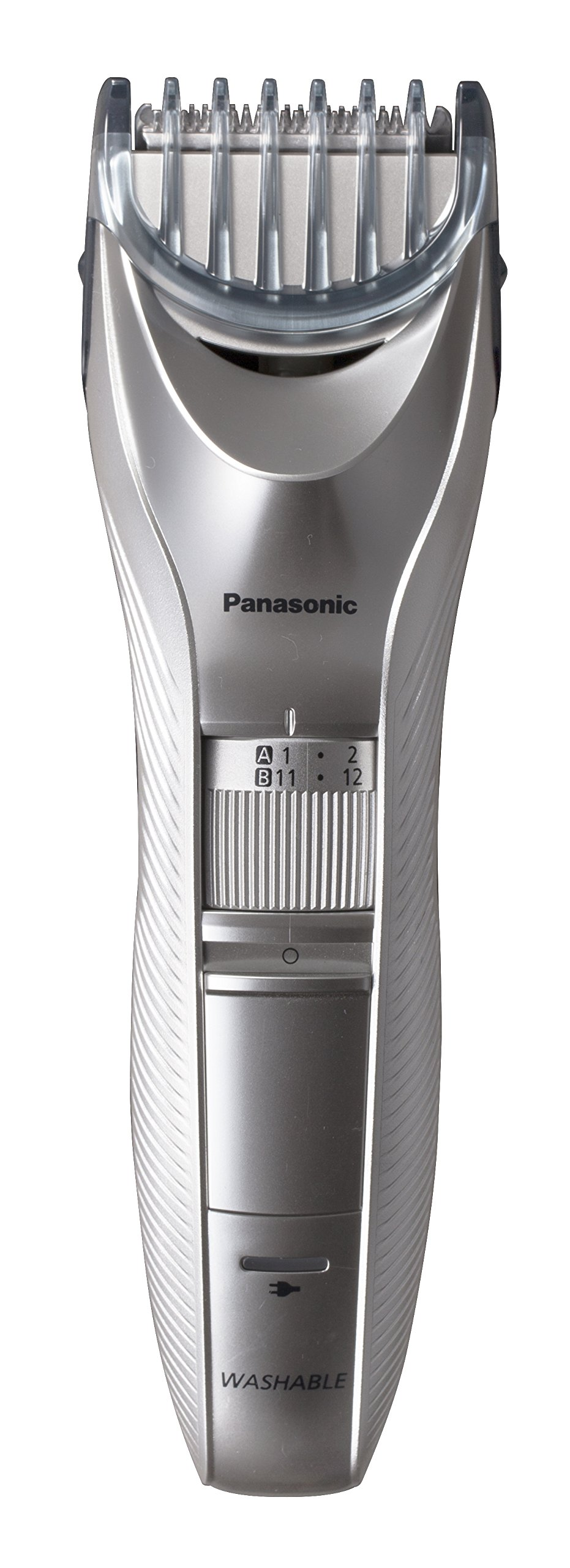 Panasonic ER-GC71 Beard and Hair Trimmer, Men's, Cordless/Corded Operation with 2 Comb Attachments and and 39 Adjustable Trim Settings, Washable