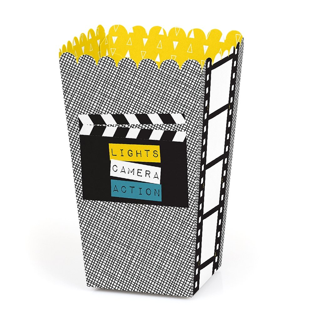 Movie - Hollywood Party Favor Popcorn Treat Boxes - Set of 12